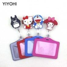 YIYOHI κάτοχος κάρτας σιλικόνης Τράπεζα κάτοχος πιστωτικών καρτών κάτοχος κάρτας ID κάτοχοι σήμα ταυτότητας με κινούμενα σχέδια συσπειρωτή καρούλι SKU02