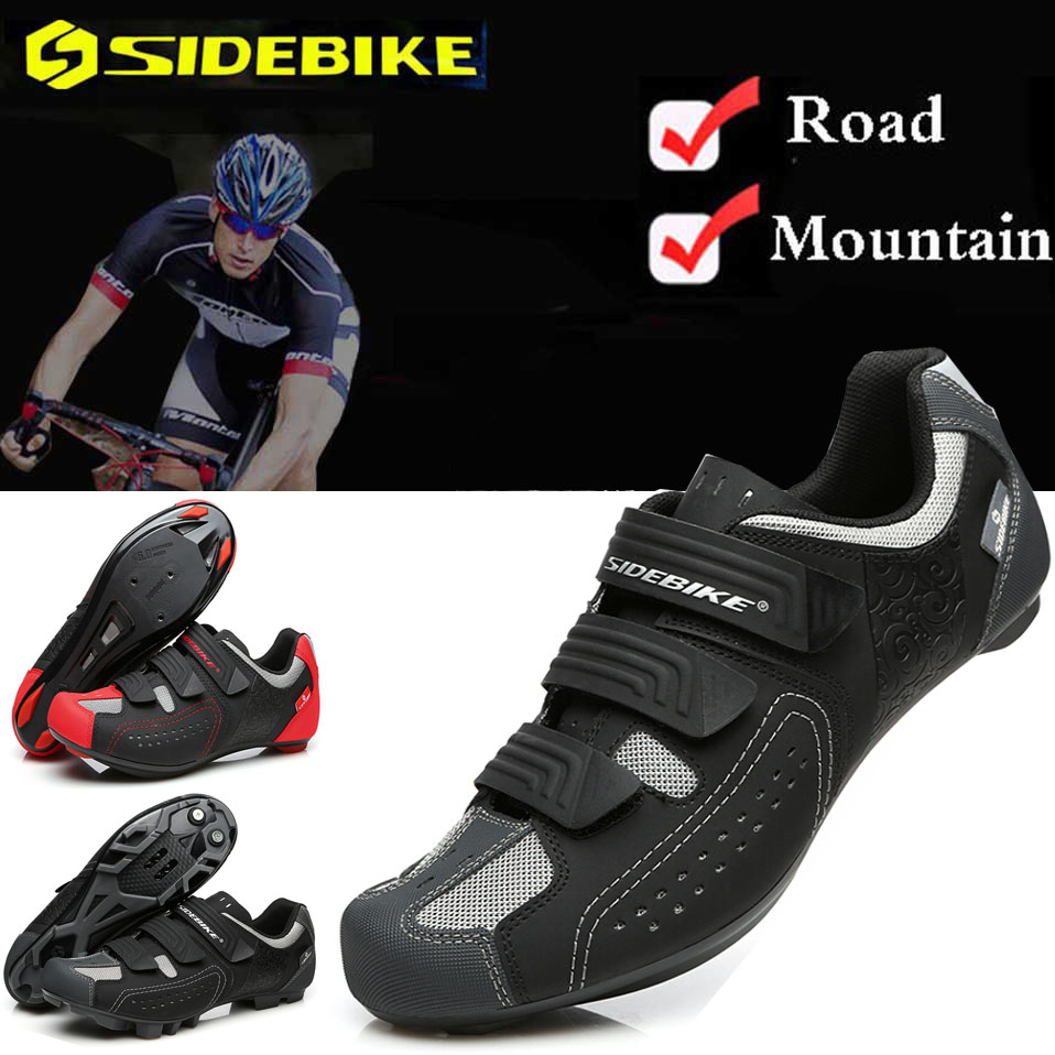 SIDEBIKE Men Women Road Bike Bicycle Shoes Anti slip Breathable Cycling Shoes Triathlon Athletic Sport Shoes