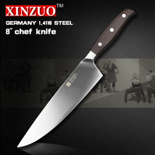 XINZUO 8 inch chef knife Germany steel kitchen knife cleaver knife vegetable/melon knife rosewood  kitchen tool free shiping