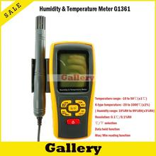Термостат автомобилей термометр цифровой термометр влажность  u0026 Температура метр gm1361 могут быть доступны k-термопары типа