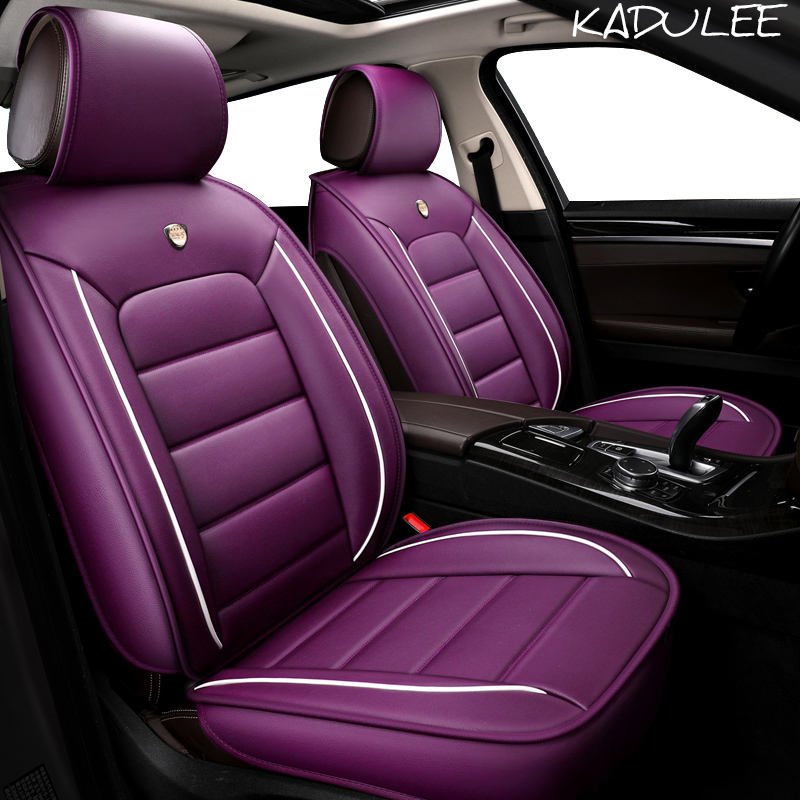 KADULEE pu leather car seat cover for Maserati Quattroporte Ghibli Levante GranTurismo Skoda car interior auto accessories