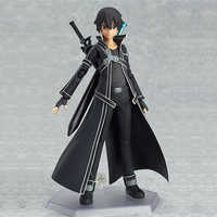 New 15cm Sword Art Online Kirigaya Kazuto Kirito Figma Figure PVC Figurine CHN Ver/Model Doll With Sword Weapon