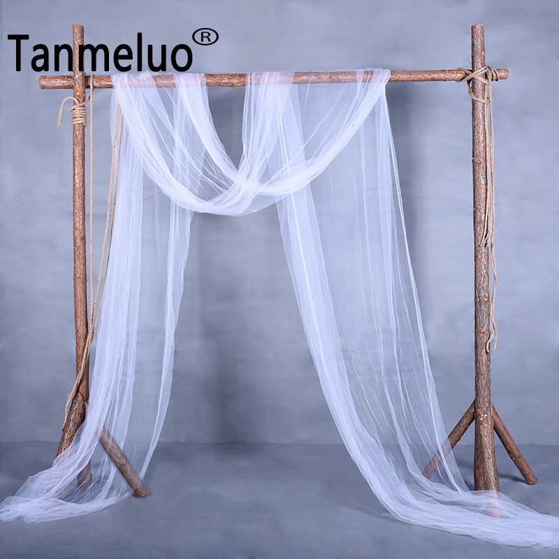 10M/lot Soft Wedding Arch Backdrop Curtain Wedding Birthday Party Picnic Outdoor DIY Backgrounds Fabric For Photo Studio