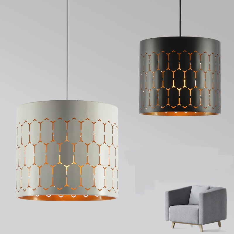 Nordic style black iron hollo pendant light modern bedroom bar creative restaurant lights iron crane lamps pendant lamps ZA91855 shell restaurant bedroom sea rock shells pendant light lamps 50cm lamps and lanterns of creative study zcl