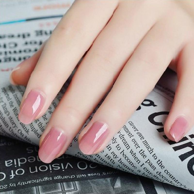 Jin Ting Pure Color UV Gel Nail Art Tips DIY Decoration for Nail ...