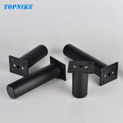 TOPNIKE 4 шт. черный Индивидуальные высота Кухня Кабинет стопы SupACport кровать ног Регулируемый ТВ ножки для тумбы алюминий сплав