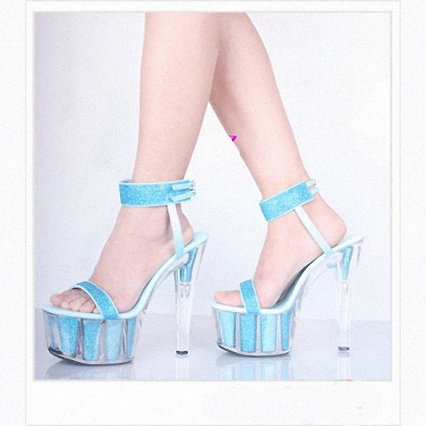 Фотография Fashion withholding Sexy shoes club 15 cm/high-heeled sandals/slipper appeal/performance women
