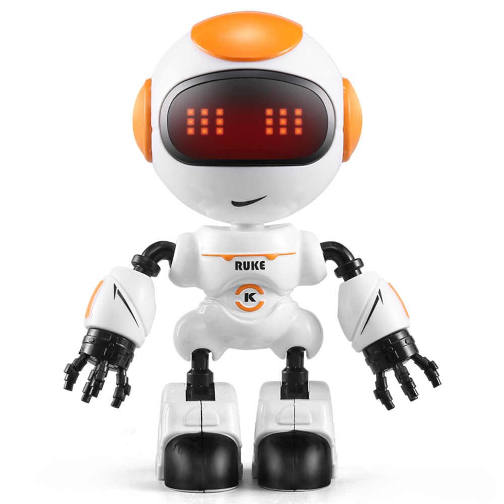 JJR/C R8 RC หุ่นยนต์ LUKE หุ่นยนต์อัจฉริยะแบบสัมผัสควบคุม DIY ท่าทาง Talk สมาร์ท MINI RC หุ่นยนต์สำหรับเด็ก