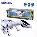 Динозавров игрушки с звучащие мигающий электронных пластиковых игрушек парк юрского периода мир домашних животных дети динозавров игрушки действие рис