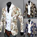 Small suit male flower in the spring and autumn suit jacket  Fashion men's small suit Men small suit all-match stereo clipping