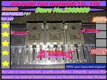Aoweziic 2017 + 100 ٪ جديد المستوردة الأصلي GP4063D IRGP4063D IRGP4063DPBF TO 247 فائقة الانتعاش السريع ديود 600 فولت 96A IGBT