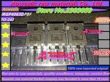 Aoweziic 2017 + 100% nowy importowany oryginalny GP4063D IRGP4063D IRGP4063DPBF TO 247 ultra dioda szybkiego odzyskiwania 600V 96A IGBT