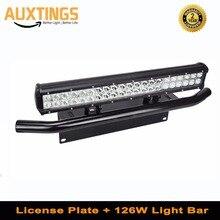 20 дюймовый комбинированный светодиодный светильник 126 Вт + кронштейн для переднего бампера для грузовиков, внедорожников, тракторов 4WD 4x4