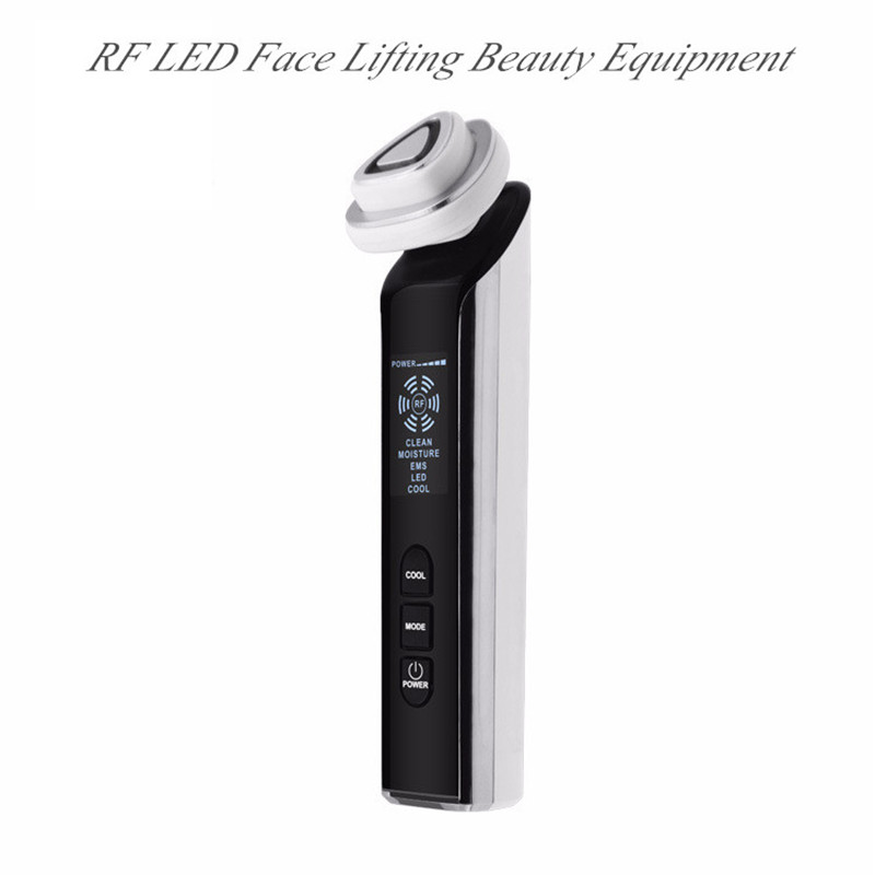 RF EMS LED Face Lifting Multi-Function Beauty Equipment Skin Rejuvenation Portable For Home Use White Color Face Skin Care Tools 1 pcs full range multi function detectable rf lens detector wireless camera gps spy bug rf signal gsm device finder