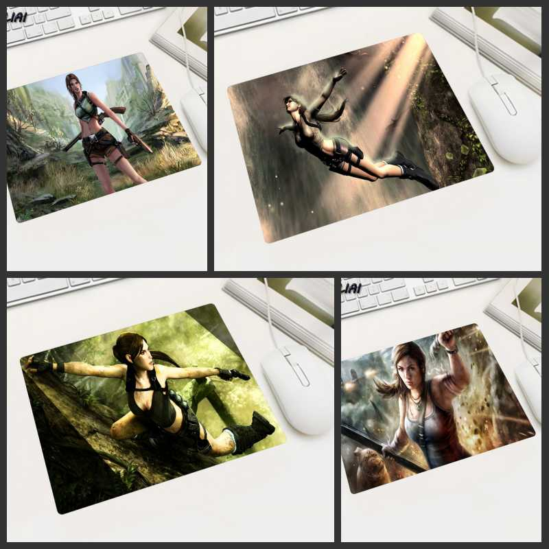 KULIAI Tomb Raider Rubber Game Wallpaper Mouse Pad 22X18 25X20 29X25 CM Non-slip Player Office Family Gaming Laptop Mause Mats