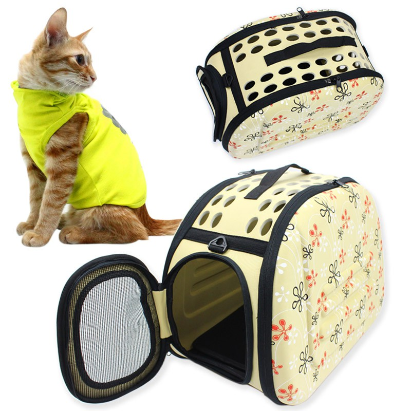 Breathable foldable pet portable shoulder pet bag (3-15kg)