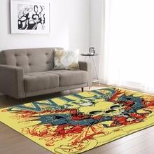 Personality 3D Skull Flannel Velvet Memory Foam Carpet