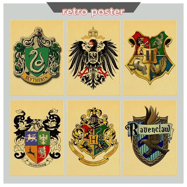 Harry Potter Fete College Retro Affiches Bannieres Gryffondor
