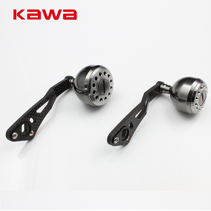 KAWA Fishing Reel Accessory Strong Carbon Fiber Fishing Reel Handle for Water-drop Reel, Hole size 8x5mm and 7*4mm TogetherKAWA Fishing Reel Accessory Strong Carbon Fiber Fishing Reel Handle for Water-drop Reel, Hole size 8x5mm and 7*4mm Together