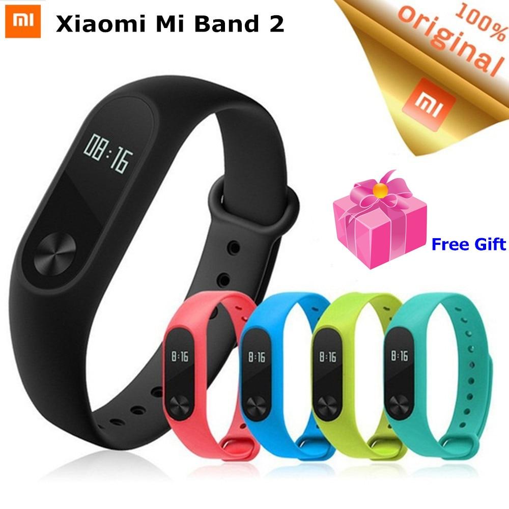 Originale Xiao mi mi fascia 2 Intelligente wristband Bracciale Fitness Frequenza Cardiaca Sonno Monitor Tracker Con Oled Touchpad XIAO Mi mi Band2