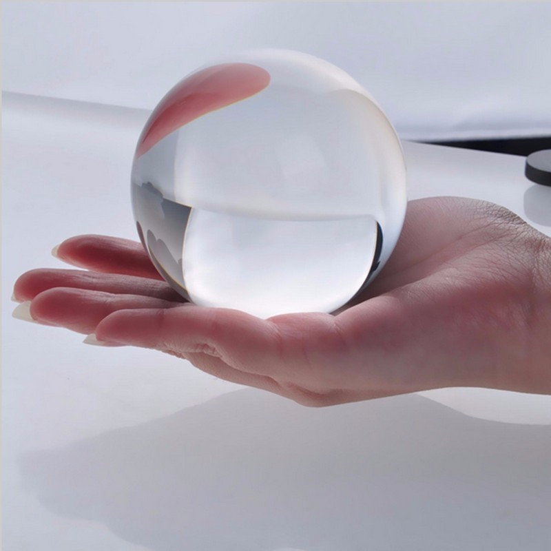 JQJ Clear Crystal Sphere Ball Paperweight Craft Feng shui Home Decorative <font><b>Glass</b></font> Marbles Photography Balls Desk Ornaments Crafts