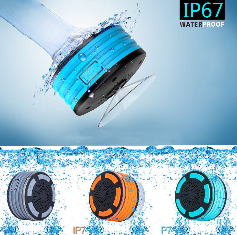 High Quality Ultra Portable Wireless Bluetooth Speakers V4.0 Waterproof IP67 Sound and Bass