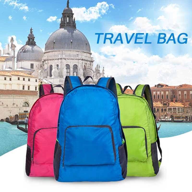 848301f8a7ae Casual Backpack Women Leisure Travel Folding Backpacks For Girls school  Bags Nylon Waterproof Trave High Quality