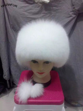 HHZWFUR Free shipping fashion fox hat real fur hat women fur hat winter warm Princess Hat