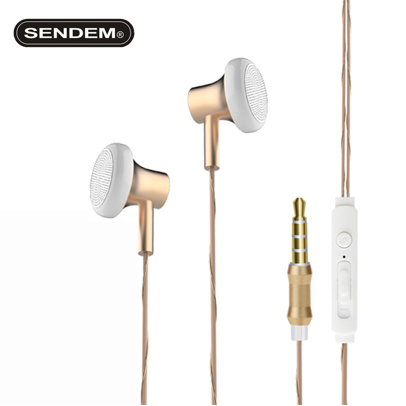 SENDEM U202 Original Metal HIFI headset Clear Bass Stereo Headphones sports music Earphones For Samsung huawei iphone xiami mp3