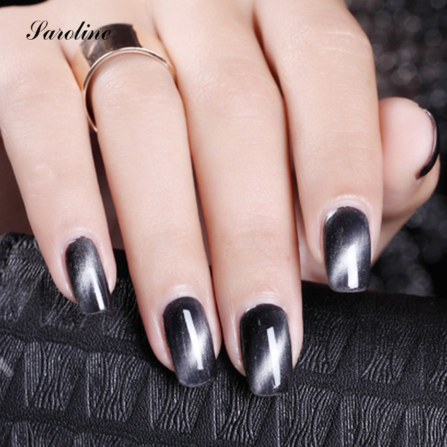 Saroline Professional Red Grey Colorful Cat Eye Nail Gel With One Magnet Set 1 Pcs Lot Magnetic Polish