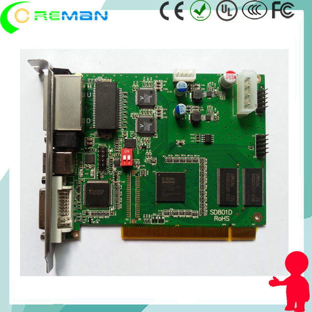 DVI HDMI Indoor outdoor rental led display controller linsn TS802 / Synchronous  led sending card  Linsn 802D Sending card 802