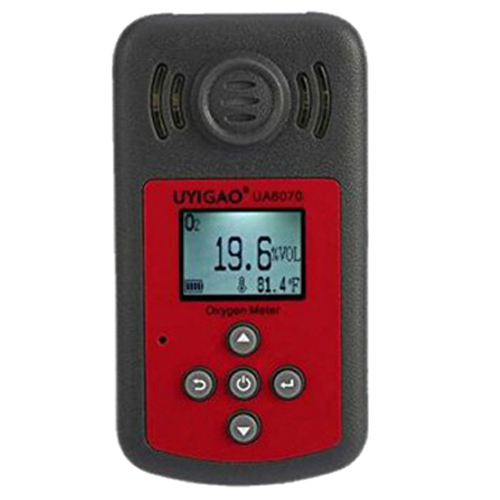 UYIGAO UA6070B Handheld Automotive Oxygen Meter High Precision O2 Gas Tester Monitor Detector with LCD Display Sound Light Alarm uyigao ua506 for ppm htv digital formaldehyde test methanol concentration monitor detector withlcd display sound and light alarm