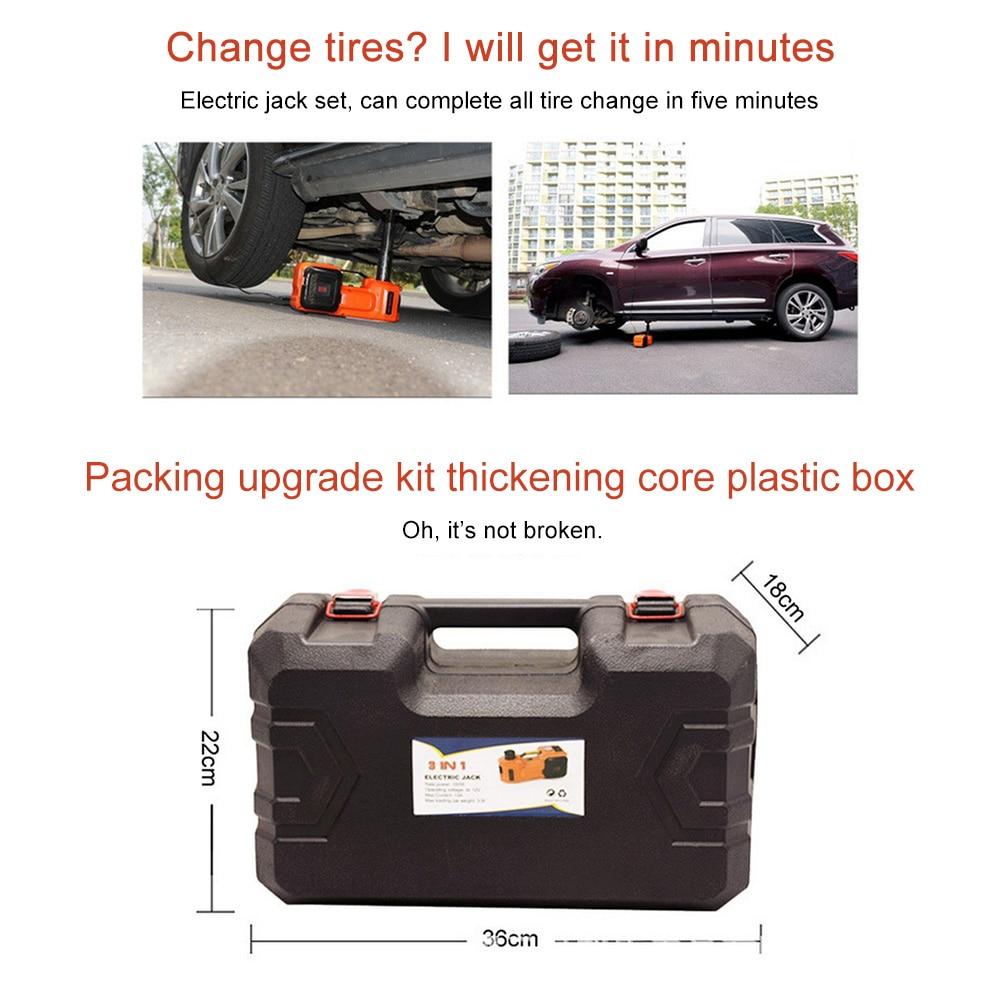 3 Ton Automotive Electric Scissor Car Jack Lift Tire Change Vehicle 12V PRO
