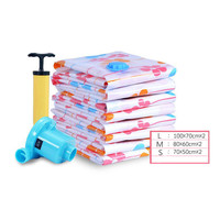 7pcs Set Thickened Vacuum Storage Bag Vacuum Compressed Bag With Hand Pump Reusable Blanket Clothes Quilt