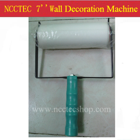 7'' angle frames wall paint decoration machine with 1 sponge roller | 220 pattern designs