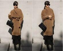 Long Durable Classique Style Moyen-long en Laine Veste, femmes Automne/Hiver MusT-have Mode Laine Manteau