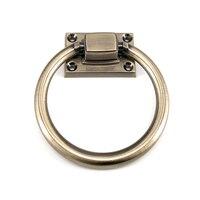 2 sztuk Fashional antyczne mosiężny element do mebli uchwyt pull krzesło pierścień uchwyt drzwi duży rozmiar w Uchwyty szafek od Majsterkowanie na