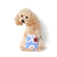 Comfortable Pet Dog Clothes Physiological Pants Striped 100% Cotton Menstruation Underwear