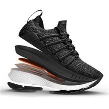 New Xiaomi Mijia Sneaker 2 Running Shoes Uni-moulding Techinique Fishbone Lock System Elastic Knitting Vamp Shock-absorbing Sole