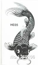 10x6cm Temporary Small Fashion Tattoo Black Sexy Fish Waterproof Temporary Tattoo Stickers