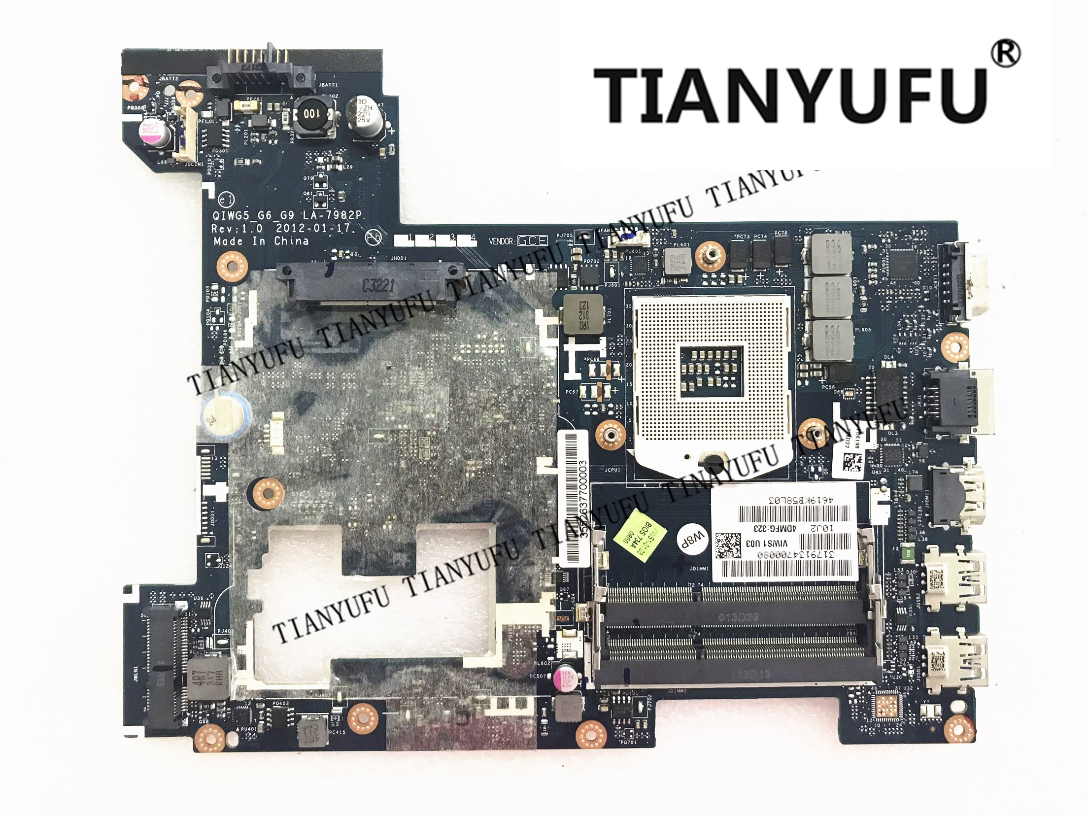 LA 7982P High Quality For Lenovo G580 Laptop Motherboard G580 P580 QIWG5 G6 G9 Motherboard tested