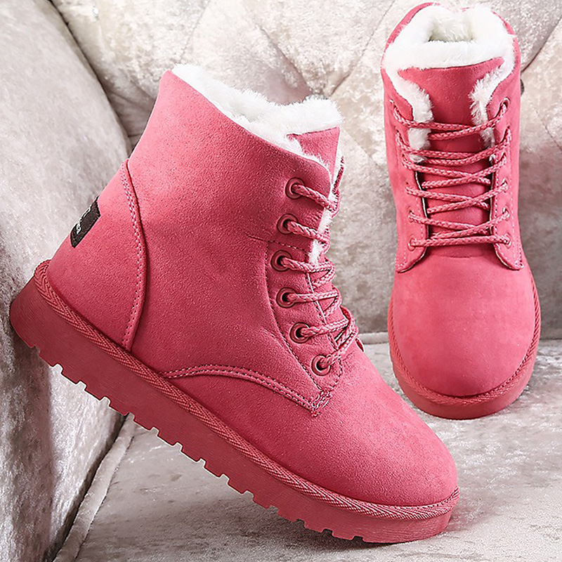 Winter woman 39 s boot plush large size 4 5 10 5 ankle boots for students soft cheaper non slip hard wearing snow boots in Ankle Boots from Shoes