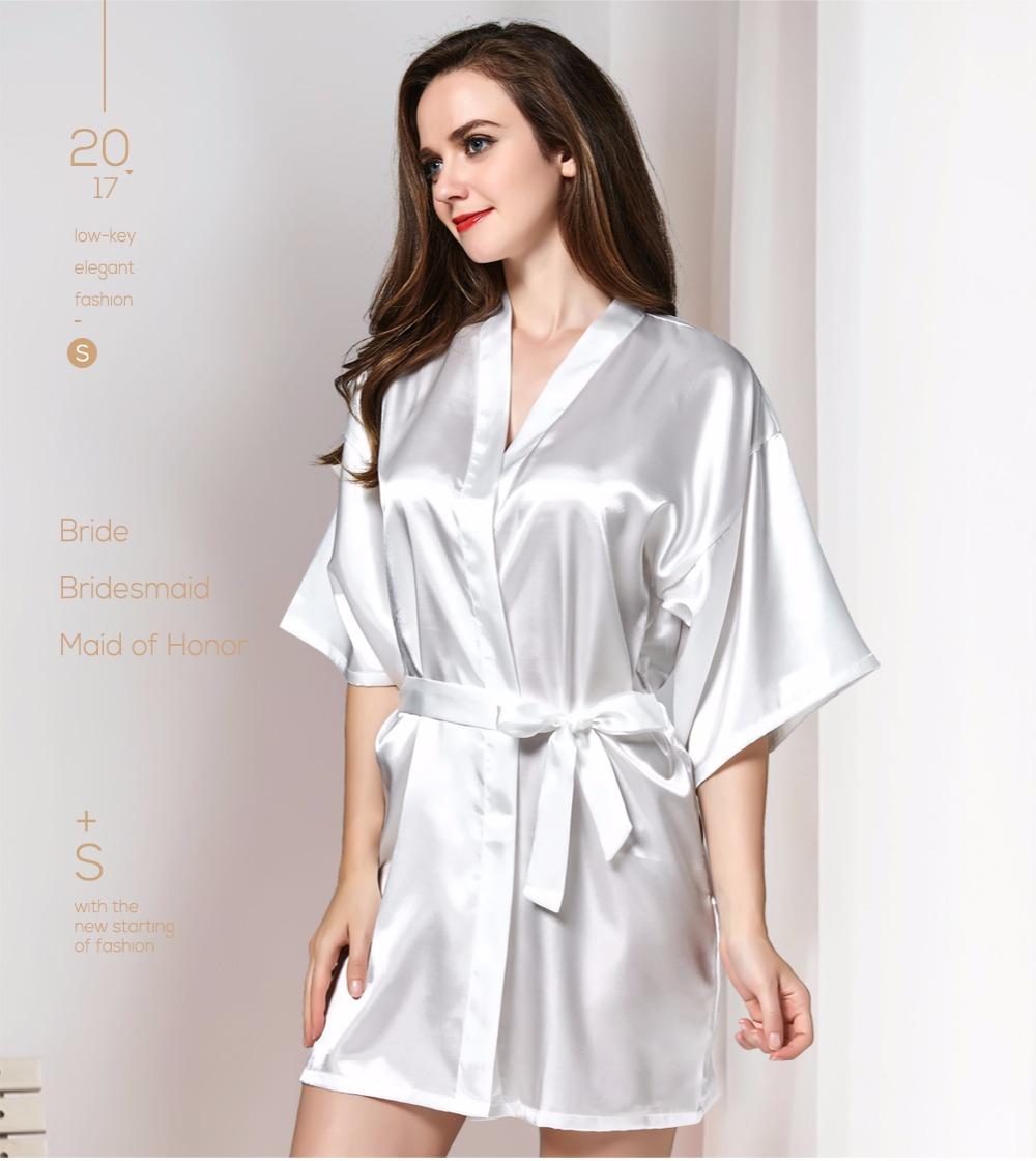 2019 Sleepwear Robe Wedding Bride Robes Pyjama Robe Female Nightwear ... cbe39d54e