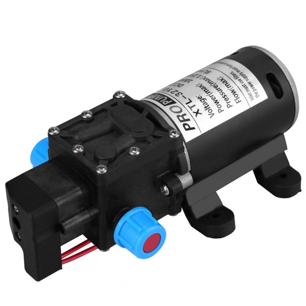 DC 12V 100W Micro Electric Diaphragm Water Pump Automatic Switch 8L/min High Pressure Car Washing Spray Water Pump