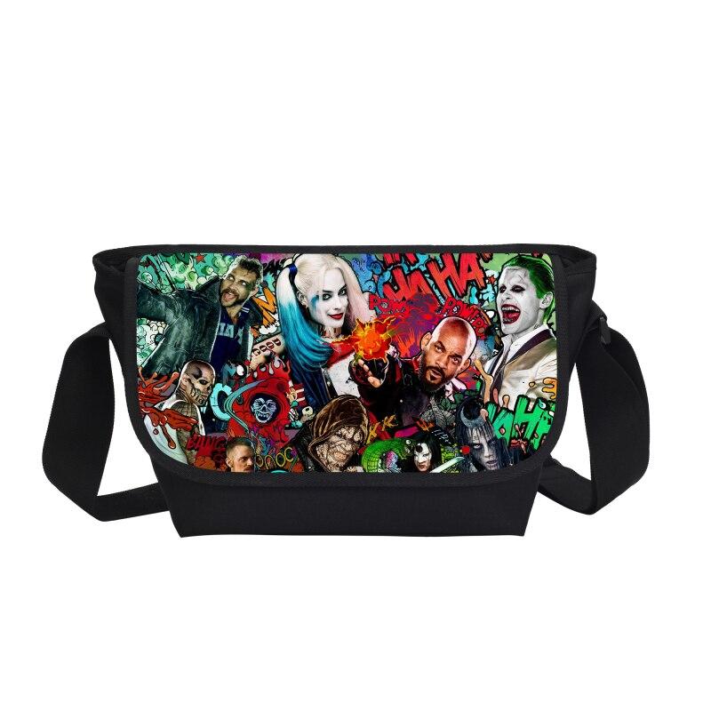 2017 New Design Suicide Squad Harley Quinn Joker Messenger Bag Cross Bags Women Handbags Gift Bag School Bags For Girls Mochila