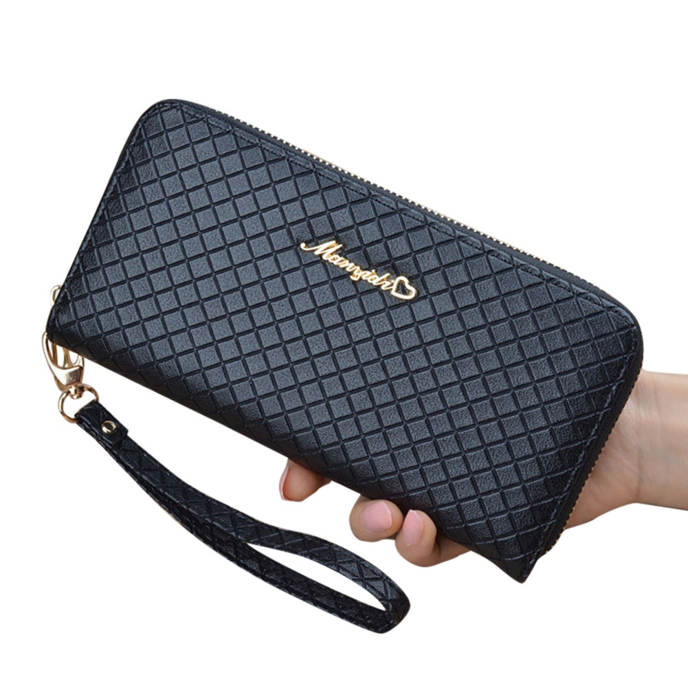 Women Lady Long Wallets Purse Storage Bag PU For Coin Money Cards Mobile Phone WML99