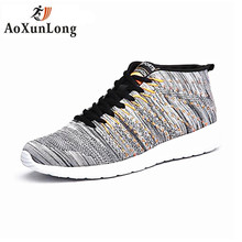 Brand 2017 New Unisex Style Men Casual Shoes Size 36-46 Black Gray 3 Colors Spring Autumn Mesh Breathable Lace-up Men Shoes