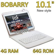 BOBARRY 10.1 inch 10 inch Original 4G Phone Call SIM card Android 6.0 Octa Core CE Brand WiFi GPS  4GB+64GB Anroid 6.0 Tablet Pc
