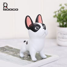Roogo Resin Home Garden Decor Lucky Dogs Figure Decoration Accessories Creative Ornaments For Office Desktop Feng Shui Dog