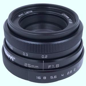 Image 2 - Newyi Mini 25Mm F1.8 aps c televizyon Tv Lens/Cctv Lens 16Mm C montaj kamera